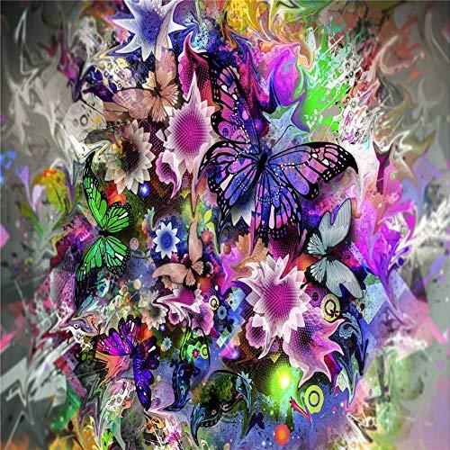 BRRLL DIY 5D Diamant Painting Full Set Schmetterlingsbusch bunt Round Drill,30x40cm Voll Crystal Strass Stickerei Diamond Kreuzstich Für Home Wall Basteln Décor Z935