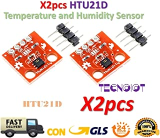TECNOIOT 2pcs HTU21D Temperature and Humidity Sensor Module Temperature Sensor Breakout
