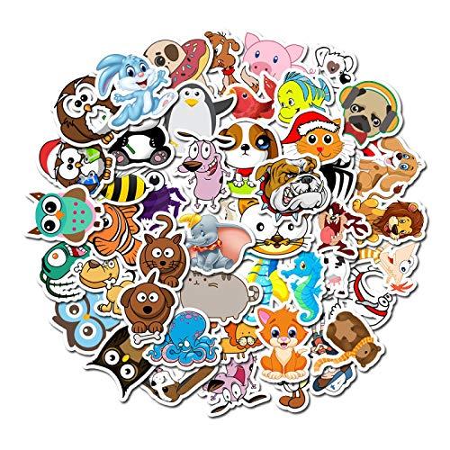 50 unids dibujos animados lindo animal pegatinas no repetitivas mixtas pegatinas equipaje portátil graffiti pvc pegatinas