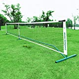 AMA SPORT Portable Pickleball Net System, Designed for All Weather Conditions,Powder Coated Steel Post,600D Driveway Bag, Regulation Size Net 22FT for Indoor and Outdoor(Green)
