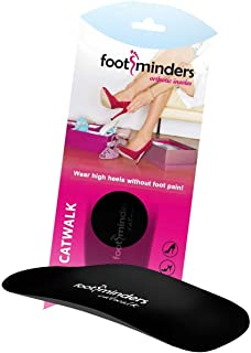 Footminders Catwalk Orthotic Arch Support Insoles for High Heel Shoes, Pumps, Sandals and Boots (Pair) (X-Small: Women 5½ - 6½) - Relieve Foot Pain Due to Wearing High Heels