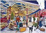 LREFON Puzzle 1000 Piezas Árbol de Navidad del Tren de Vapor,Jigsaw Puzzles desafiantes Rompecabezas para Adultos/Infantiles