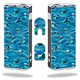 MightySkins Skin Compatible with Eleaf iStick 20W – Dolphin Gang | Protective, Durable, and Unique Vinyl Decal wrap Cover | Easy to Apply, Remove, and Change Styles | Made in The USA