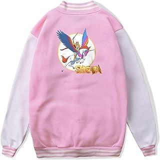 VJJ AIDEAR She-Ra Princess of Power Swiftwind Baseball Uniform Jacket Sport Coat Child Long Sleeve Hoodie Sportswear Black