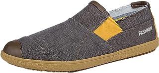 Hommes Espadrilles Patchwork Chaussures en Toile Respirantes Plat Antidérapant Slip-on Low-Top Casual Mocassins De Mode