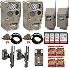 Cuddeback 20 MP IR H-1453 Trail Camera (Two Pack) Bundle with Mounts, Two Cuddesafe Security Boxes, Two Locking Cables, Batteries, Four Memory Cards, and Card Reader