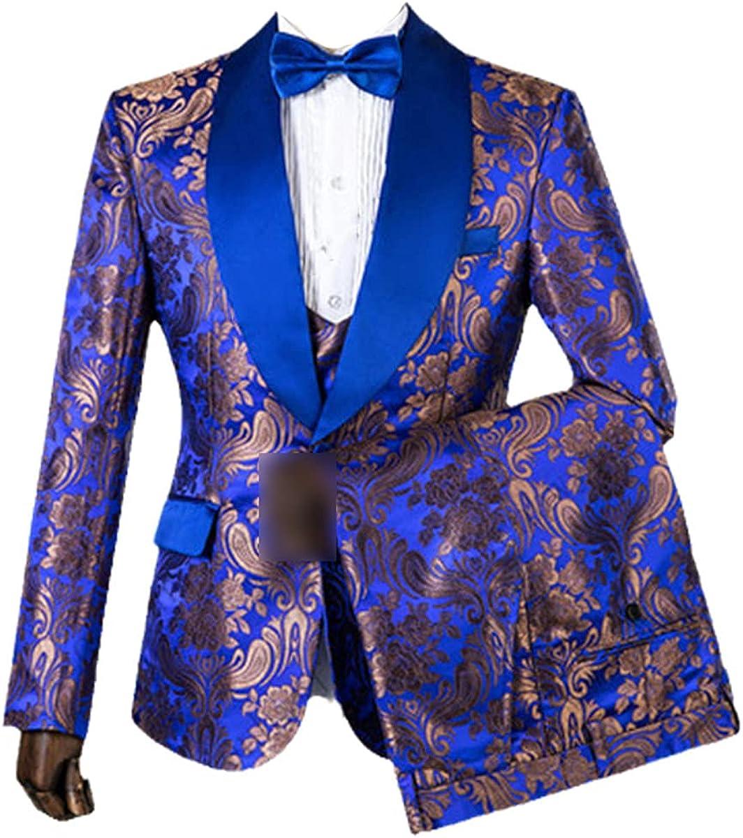 Royal Blue Slim Custom Men's Suit Wedding Suit Groom Tuxedo Three-Piece Best Man Suit