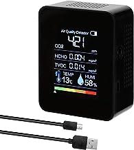 Romacci Detector portátil de CO2 Detector de qualidade do ar Detector inteligente de temperatura e umidade Sensor Tester M...
