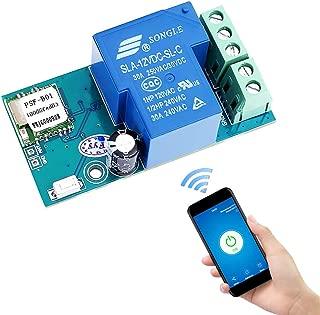 YEMIUGO 12V WiFi Relay Switch Module Inching & Self-Locking Switch Module High Powe 15A APP Smart Relay Delay Switch Module for DIY Smart Home Compatible with Alexa Google Nest