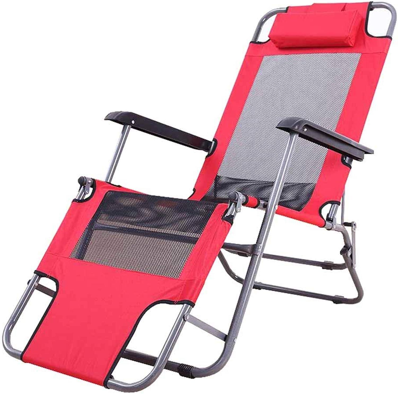 Folding Reclining Chair Sun Loungers Relaxing Chair Deck Chairs Zero Gravity Garden Beach Lunch Break Indoor Outdoor Red