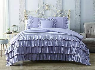 KingLinen 8 Piece Darla 100% Cotton Lilac Bed in a Bag Set Queen