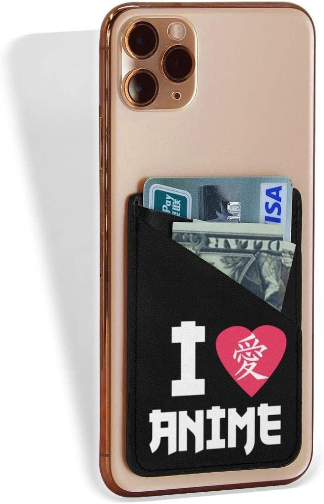 Cell Phone Card Holder Great interest I Love Wallet On Adhesive Stick Max 64% OFF Pou Anime