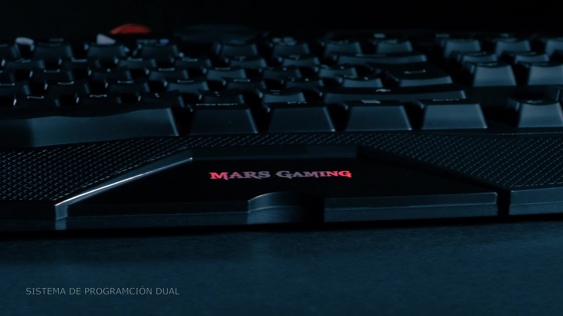 MARSGAMING MK215 - Teclado gaming de membrana (software dual, programable, 5 teclas para macros, 4 perfiles, 4 teclas multimedia, RGB 7 colores, ...