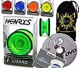 Henrys Lizard YoYo - Set Yo-Yo Professionale + Libro di Trucchi didattici + Apprend Dvd + ...