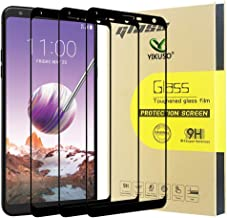 [3 Pack] Screen Protector for LG Stylo 4, [Full Cover] Tempered Glass with Lifetime Replacement Warranty