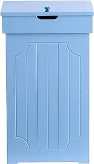Brylanehome Cottage Kitchen Trash Bin, Light Blue