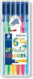STAEDTLER triplus 1.0 mm 323 Colour Fibre-Tip Pen - Assorted Tropical Colours