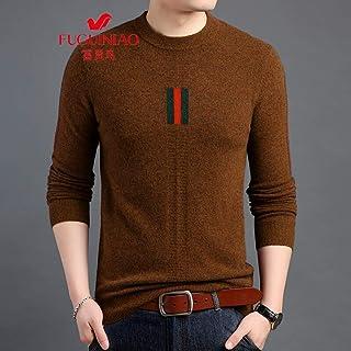 富贵鸟羊毛衫男圆领加厚保暖套头毛衣纯色打底羊毛针织衫