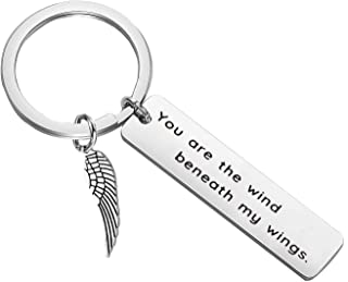Graduation Thank You Gifts Mom Appreciation Gifts Mom Dad Keychain You are The Wind Beneath My Wings Achievement Gift Graduation Gift for Teacher Appreciation Gift