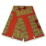 Afrikanischer Stoff – Orange Gelb Schild – Wachstuch
