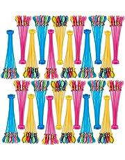 Kine 888-delige waterballonnen, gemakkelijk te vullen, kleurrijk, zelfverzegelend, zonder knopen, waterbommen voor kinderen en volwassenen, 1 verpakking van 37 x 24 pakketten