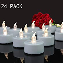 Tappovaly Tea Lights, 24 Pack Flameless LED Candles Battery Operated Tea Lights Candles Long Lasting Tealight for Wedding ...