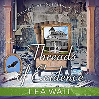 Threads of Evidence audiobook cover art
