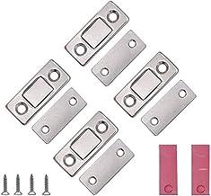 VOARGE Magneet voor kastdeur, ultradunne kastdeur, magneetsluiting, kastdeur, voor sluiting, kliksysteem, deurmagneet, deu...