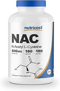 Nutricost N-Acetyl L-Cysteine (NAC) 600mg, 180 Capsules - Non-GMO, Gluten Free