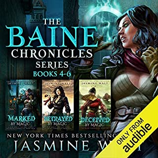 Page de couverture de The Baine Chronicles Series, Books 4-6: Marked by Magic, Betrayed by Magic, Deceived by Magic (The World of Recca Boxed Sets Book 2)