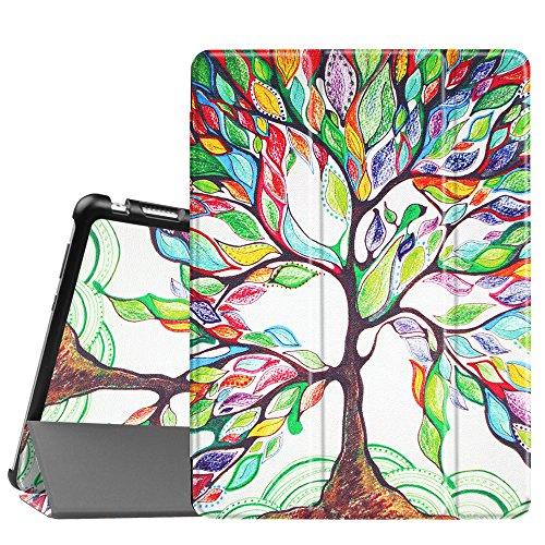 Fintie Huawei Mediapad M3 Lite 10 Hülle - Ultra Dünn Superleicht SlimShell Case Cover Schutzhülle Etui Tasche mit Zwei Einstellbarem Standfunktion für Huawei Mediapad M3 Lite 10 Zoll, Liebesbaum