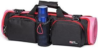 Acmebon Bolsa de Yoga Para Esterilla Plegable Multifuncional de Gran Capacidad de Hombro Bolso de Yoga Gimnasio Deportes Portátil Para Hombres y Mujeres Negro y rojo 607