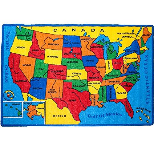 Top 15 usa map rug for kids for 2021