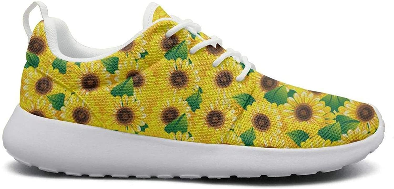 FEWW11 Women Funny Lightweight shoes Sneakers Sunflower Decorations Party Cozy Sport Lace-Up
