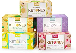 MCM Nutrition Ketones Variety Pack – Exogenous Ketones Drink Mix Packets That Boosts Energy (5 Boxes - 100 Keto Packets) - Instant Keto Mix as a Ketones Supplement for Ketosis - Ketones Drink Packets