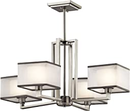 Kichler 43438NI Kailey Chandelier 4-Light, Brushed Nickel