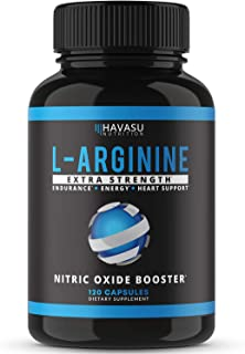 Havasu Nutrition Extra Strength L Arginine Nitric Oxide Supplement - 1200mg Nitric Oxide Booster for Overall Health, Muscl...
