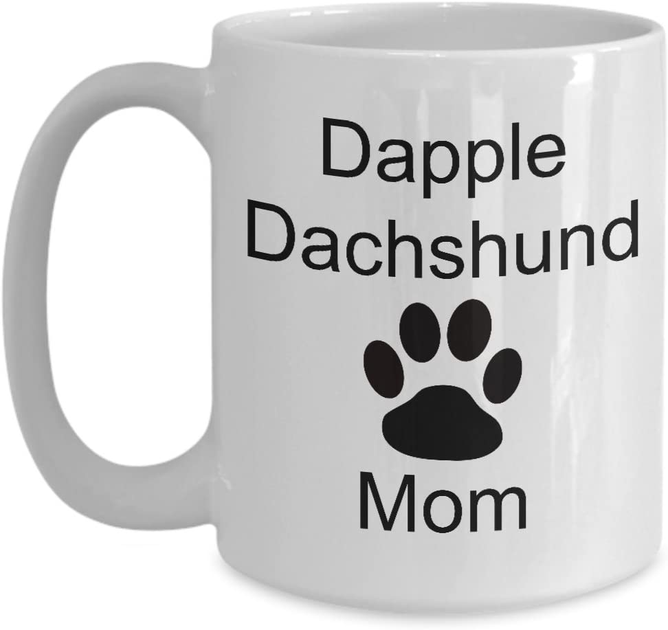 Dapple Dachshund Mom Mug Coffee Cup Paw Print Doxie Gift For Her Mother S Day Valentine S Dog Lover Kitchen Dining