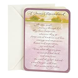 DaySpring Sympathy Greeting Card (Trees In Distance)
