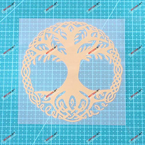 Yggdrasil Tree of Life Celtic Symbol Vinyl Decal Sticker - 5 Inches Gold - No Background for Car Boat Laptop Cup