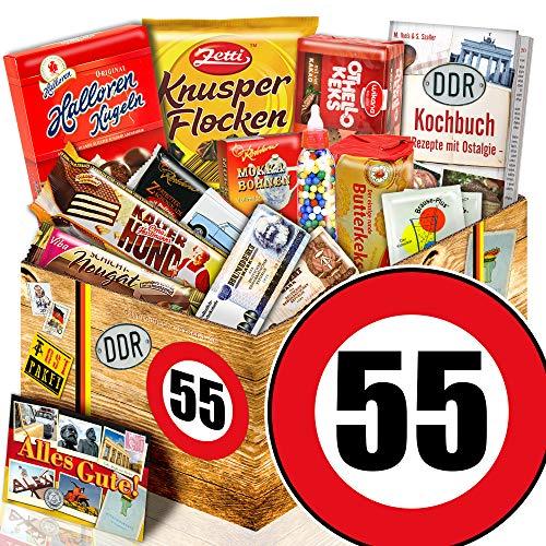 Süssigkeiten Geschenk - Ossi Paket L - Zahl 55 - Geschenke Papa