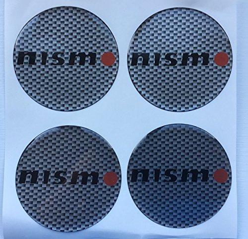 SCOOBY DESIGNS Nissa Nismo GTR Skyline R34 - Tapa central de llantas de aleación para pegatinas de carburo de color plateado, 4 unidades, todos los tamaños