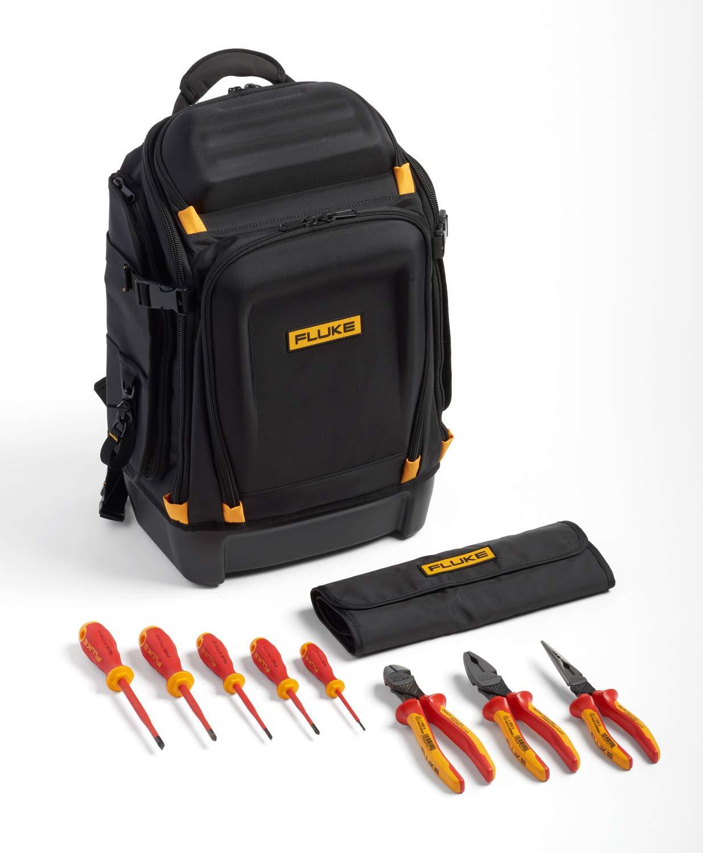 Mochila para instrumentos Fluke Pack30 Professional + Kit básico de herramientas de mano aisladas (5 destornilladores aislados y 3 alicates aislados)