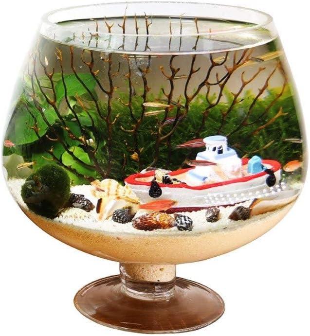 Amazon Com Aquarium Home Decoration Personality Creative Goblet Shape Fish Tank Aquarium Desktop Ecological Bottle Small Fish Tank Aquarium Size L Home Kitchen