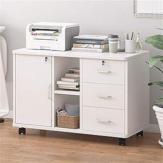 Caisson de Bureau Cabinet de classement en bois de bureau avec verrouillage Petite armoire armoire armoire basse armoire é...