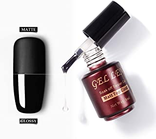 Gellen Matte Top Coat for UV Gel Nail Polish - Trendy Nail Art Quick Dry Easy Home Gel Manicure