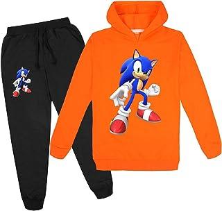 mama stadt Niños y Niñas Sudadera con Capucha y Pantalones a Juego Traje Sonic The Hedgehog Conjuntos Ropa Deportivos