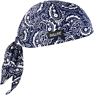 Ergodyne Chill-Its 6615 Absorptive Moisture-Wicking Dew Rag, Navy Western