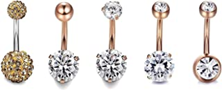 Belly Button Rings - Surgical Steel Belly Rings for Women Girls Navel Rings 14G