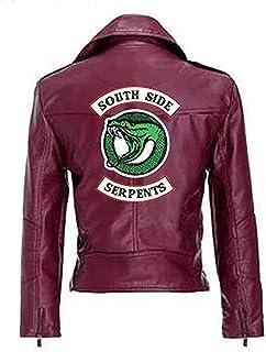 Yesgirl Moda Riverdale PU Chaquetas De Cuero Mujeres Southside Serpents Moto Biker Abrigo Cosplay Casual